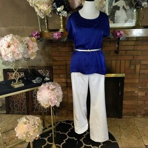 ANNE KLEIN TROUSERS; SUSIE ROSE TUNIC